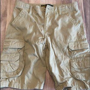 Boys khaki cargo shorts Lee shorts sz 12